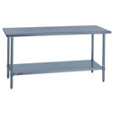 Stainless Steel Work Tables with Galvanized Legs & Undershelf