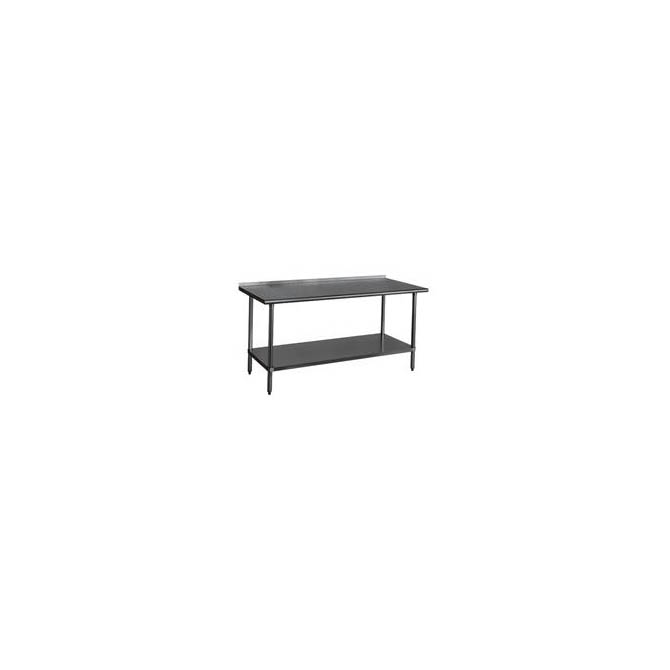 duke stainless steel work table with 1 18 backsplash 96w x 30d x 36h