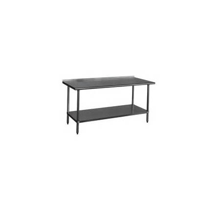 "Duke Stainless Steel Work Table with 1-1/8 Backsplash 36""W x 30""D x 36""H"