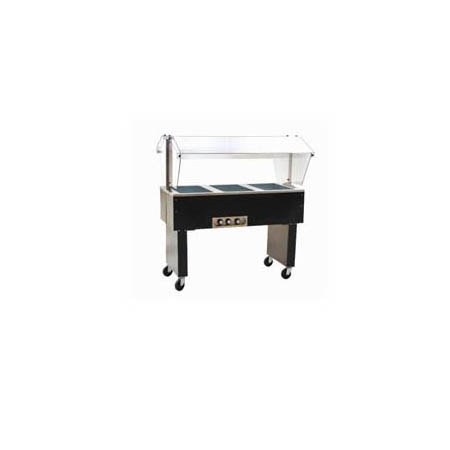 "Eagle 3-Well Portable 115V Electric Hot Food Buffet Table 48""L"