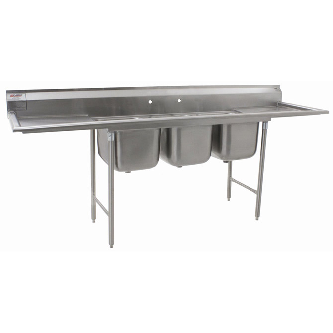 Stainless Sink Drainboard : ... Compartment Stainless Steel Sink with 18