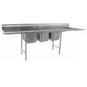 "Eagle 3-Compartment Stainless Steel Sink with Two 18"" Drainboards 90""L"