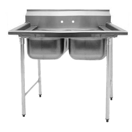 "Eagle 2-Compartment Stainless Steel Sink without Drainboards 41""L"
