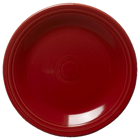 "Homer Laughlin Fiesta 10-1/2"" Scarlet Red Plate"