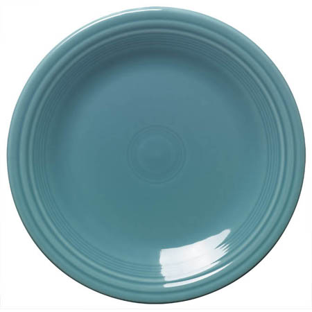 "Homer Laughlin Fiesta 10-1/2"" Turquoise Plate"