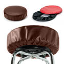 Eukya Furniture Dark Brown Slip-On Vinyl Seat Cover for Round Bar Stool Seats