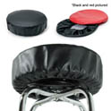 Eukya Furniture Black Slip-On Vinyl Seat Cover for Round Bar Stool Seats