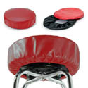 Eukya Furniture Red Slip-On Vinyl Seat Cover for Round Bar Stool Seats