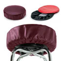 Eukya Furniture Wine Slip-On Vinyl Seat Cover for Round Bar Stool Seats