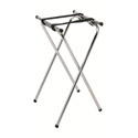 "Chrome Folding Tray Stand 37""H"