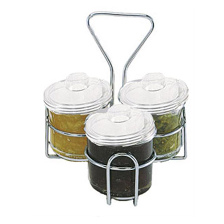 Update J-Jar Condiment Caddy and Three 8 oz. Jars with Lids