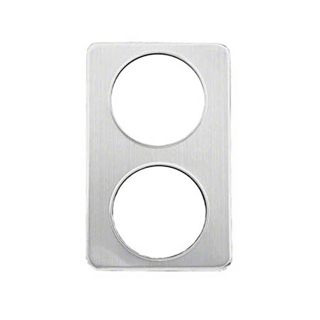 "Stainless Steel Adapter Plate with Two 8""  Cut-Outs"