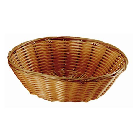 "Woven Poly Round Basket 8-1/4"" x 2-1/2"""