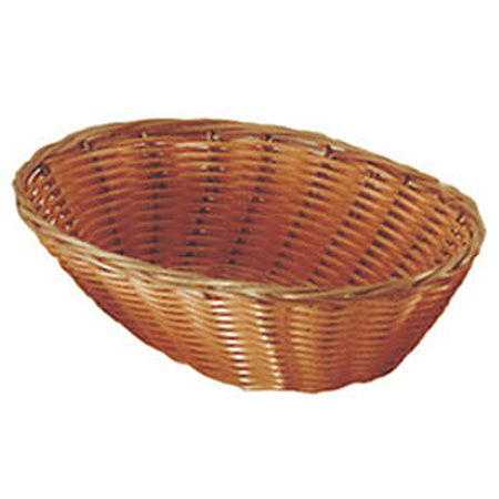 "Woven Poly Oval Basket 9-1/2"" x 7"" x 2-1/2"""