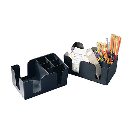 Black Caddy for Bar Napkins and Accessories
