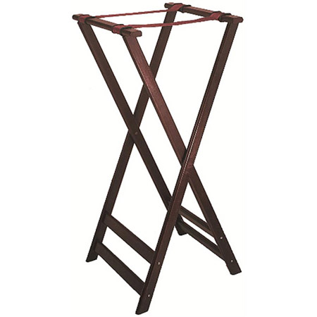 "Wood Folding Tray Stand with Cherry Finish 38""H"