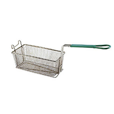 "Front Hook Fry Basket with Insulated Handle 11""D x 5-5/8""W x 4-1/8""H"
