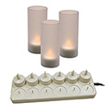 12-Piece LED Electric Tabletop Candle Set