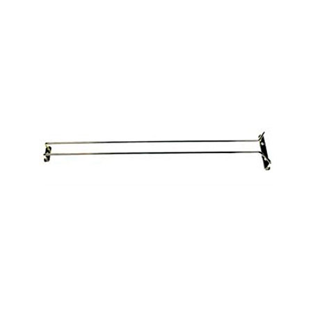 "Chrome Plated Glass Hanger 24""L"