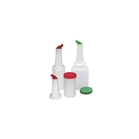 1-Quart Pour Bottle with Green Spout and Lid