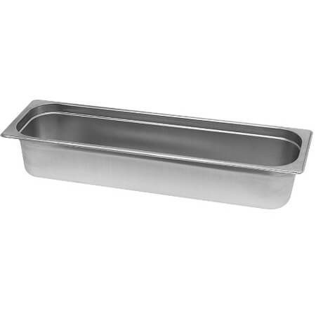 "1/2-Size Anti-Jam Standard Weight Stainless Steel Food Pan 4"" Deep"