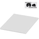 White Polyethylene Cutting Board for Bakery and Dairy 12\x22 x 18\x22 x 1/2\x22