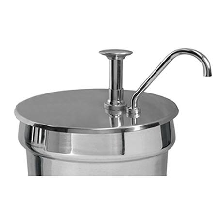 Condiment Pump and Lid for 7-Quart Stainless Steel Inset Pan