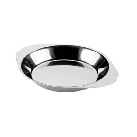 Johnson-Rose 10 oz. Round Stainless Steel Au Gratin Dish