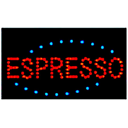 "Johnson-Rose Espresso LED Window Sign 19"" x 10"""