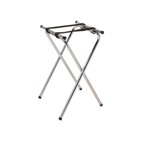 "Chrome Folding Tray Stand 31""H"