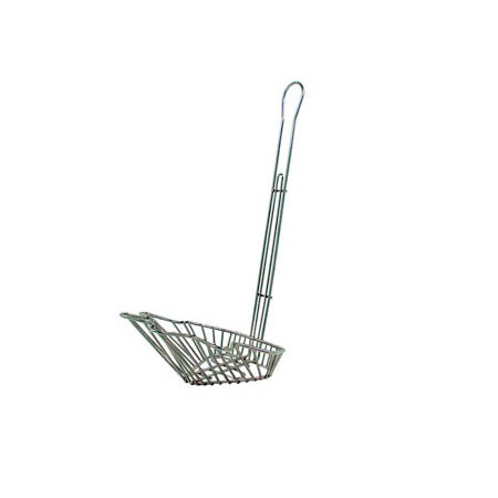 "8-1/4"" Fryer Basket for Sloped Taco Salad Bowl"