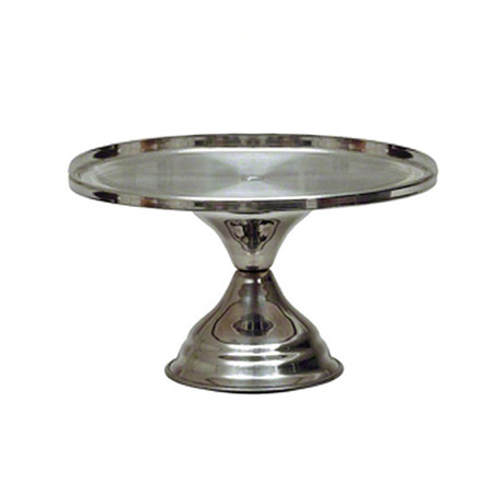 "Stainless Steel Cake Stand 12-1/4"" Diameter"
