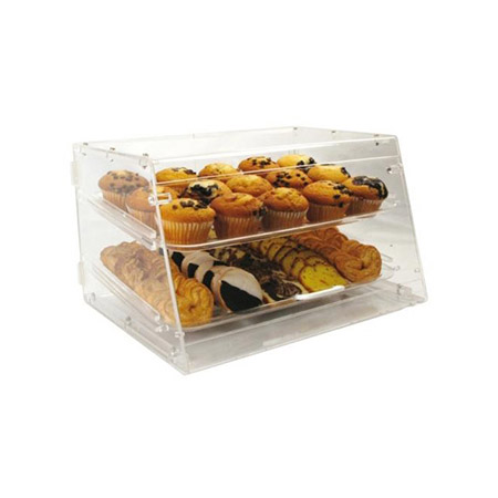 "2-Tray Clear Acrylic Display Case 12""H x 21""W x 18""D"