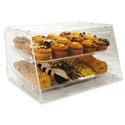 2-Tray Clear Acrylic Display Case 12\x22H x 21\x22W x 18\x22D