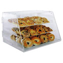 3-Tray Clear Acrylic Display Case 12\x22H x 21\x22W x 18\x22D