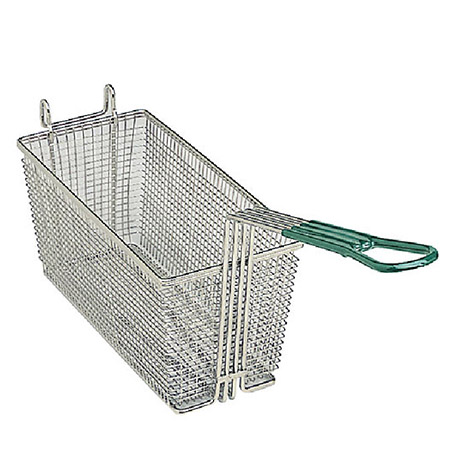 "Front Hook Fry Basket with Insulated Handle 13-1/4""D x 5-1/2""W x 5-11/16""H"