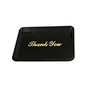 "Black Thank You Tip Tray 4-1/2"" x 6-1/2"""