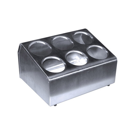 Stainless Steel Flatware Cylinder Holder with Rolled Edges