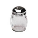 6 oz. Glass Cheese Shaker with Perforated Chrome Top