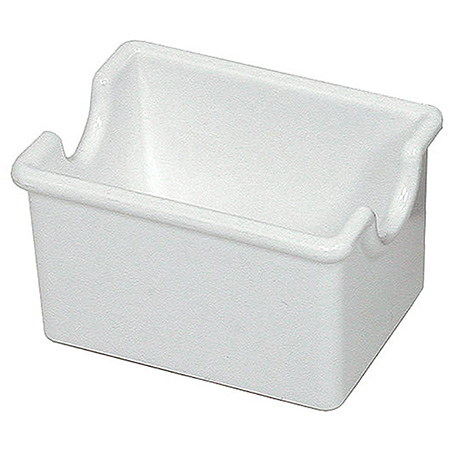 White Plastic Sugar Packet Caddy