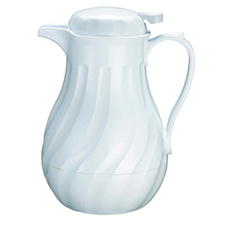 Update 42 oz. White Swirl Insulated Beverage Server
