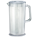Update 66 oz. Clear Poly Beverage Pitcher with Plastic Ice Tube