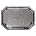 Embossed Octagon Chrome Plated Serving Tray 17\x22 x 12\x22