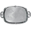 Embossed Rectangular Chrome Plated Serving Tray 18\x22 x 13\x22