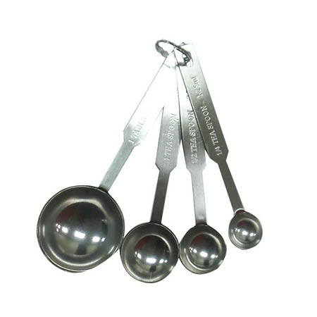 4-Piece Stainless Steel Measuring Spoon Set