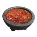 10 oz. Black Plastic Molcajete Bowl 4-Pack
