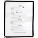 2-Panel Clear Plastic Menu Cover with Black Binding 9-1/4\x22 x 14-5/8\x22