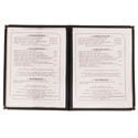 4-Panel Clear Plastic Menu Cover with Black Binding 9-1/4\x22 x 14-5/8\x22