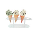 Update International 4 Cone Acrylic Ice Cream Cone Holder