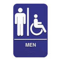 "Men/Accessible Wall Sign with Braille  6"" x 9"""